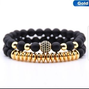 Other - 2️⃣For3️⃣0️⃣LAST 1 NWT 2pc Couples Bracelets Gold